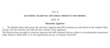 eu limit on amount of nicotine in e liquid