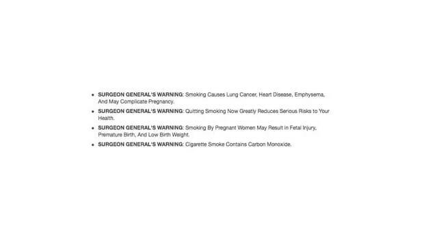 american tobacco cigarette warning label regulation