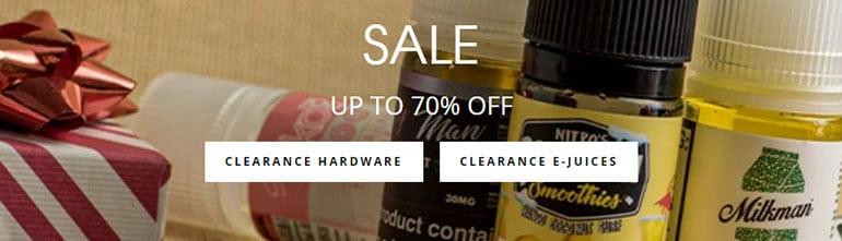 clearance sales at vapordna