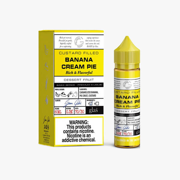 Glas Vapor Banana Cream Pie Dessert Vape Juice